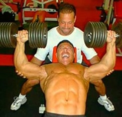 free weights bench press
